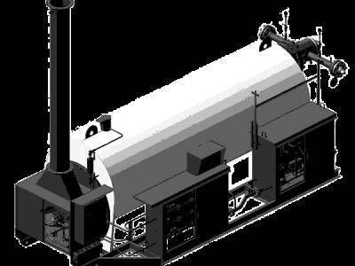 Подогреватель газа с промежуточным теплоносителем